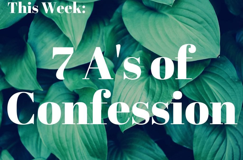 7 A's of Confession