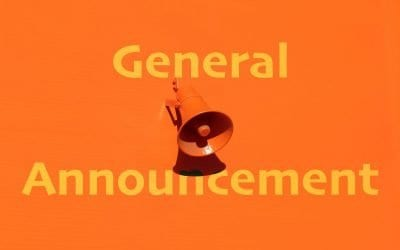 General Announcement