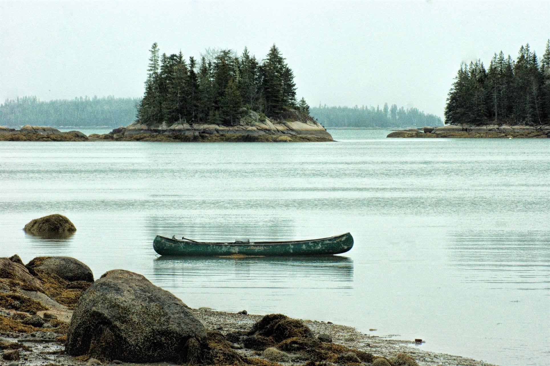 canoe at Sunrise, Maine